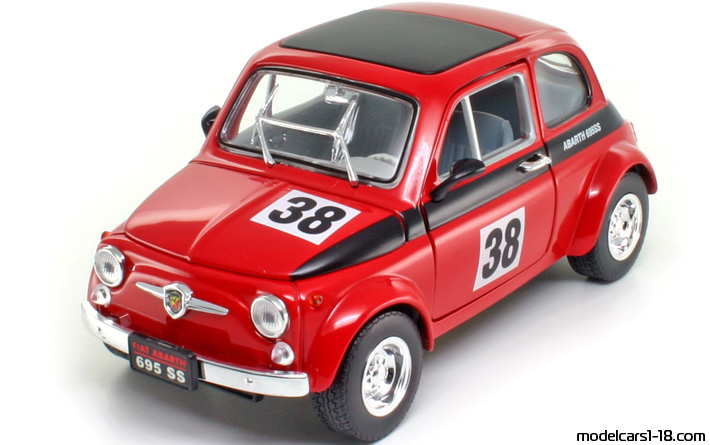 1963 fiat 500 abarth 695 ss racing car road signature 1 18 details. Black Bedroom Furniture Sets. Home Design Ideas