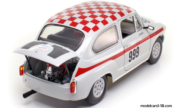 1962 - Fiat Abarth 1000 TC Revell 1/18 - Rear Right Side
