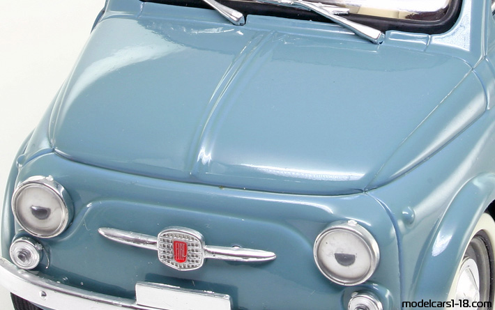 1957 - Fiat 500 Solido 1/16 - Trunk / Popup Headlights