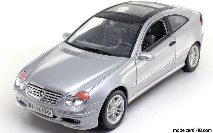 2001 - Mercedes C 200 Sportcoupe (CL203), Welly  1/18