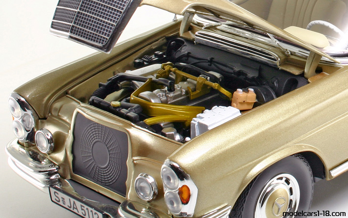 1969 - Mercedes 280 SE (W112) Norev 1/18 - Engine