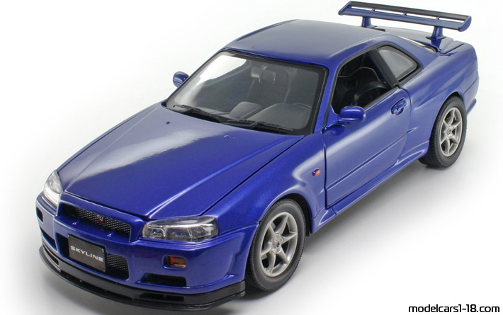 2002 nissan skyline gt r r34 coupe motor max 1 18 vs real car