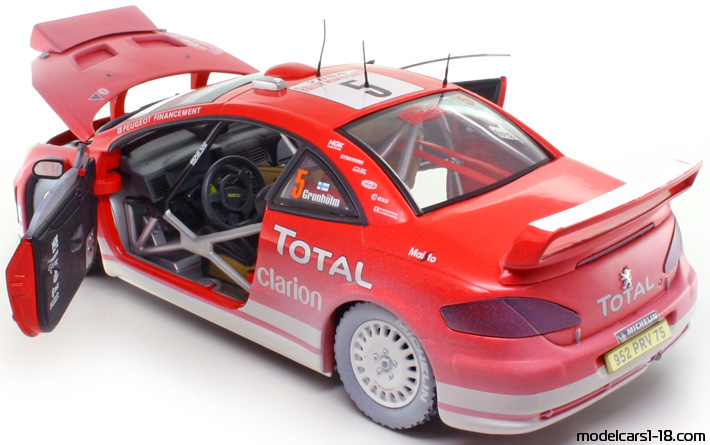 Majorette Racing Auto Modell OVP 5 PEUGEOT 307 WRC 2004 Neu