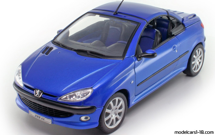 2002 Peugeot 206 Cc Coupe Cabrio Welly 1 18 Details