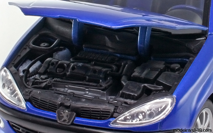 2002 - peugeot 206 cc coupe/cabrio welly 1/18 - details